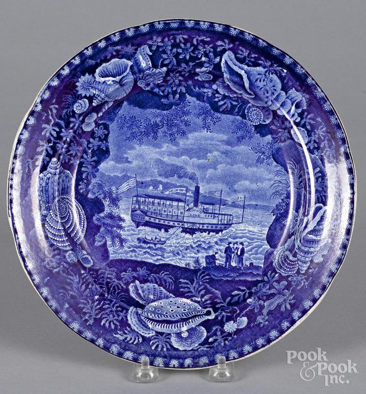Staffordshire historical blue Union Line plate