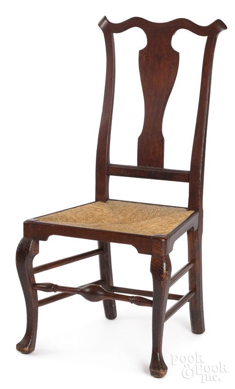 Philadelphia Queen Anne maple dining chair
