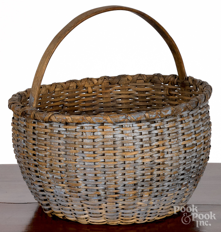 Painted berry basket