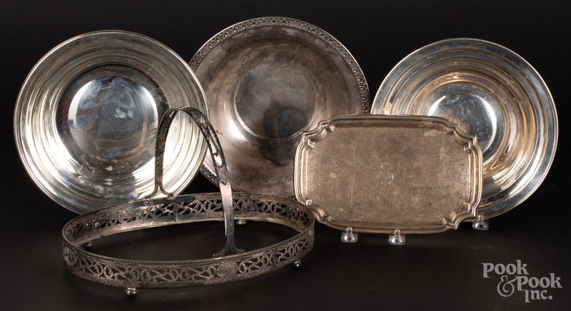 Sterling silver serving pieces