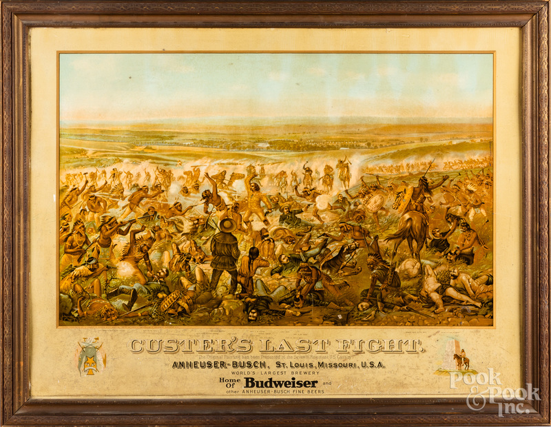 Budweiser advertising of Custer's Last Fight