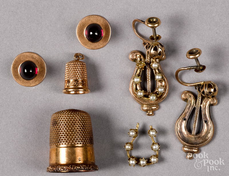 Group of 14K gold antique jewelry