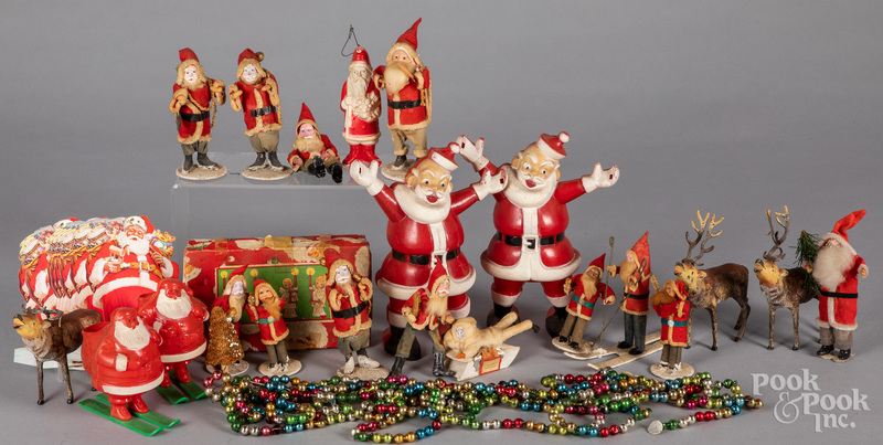 Large group of vintage Christmas items