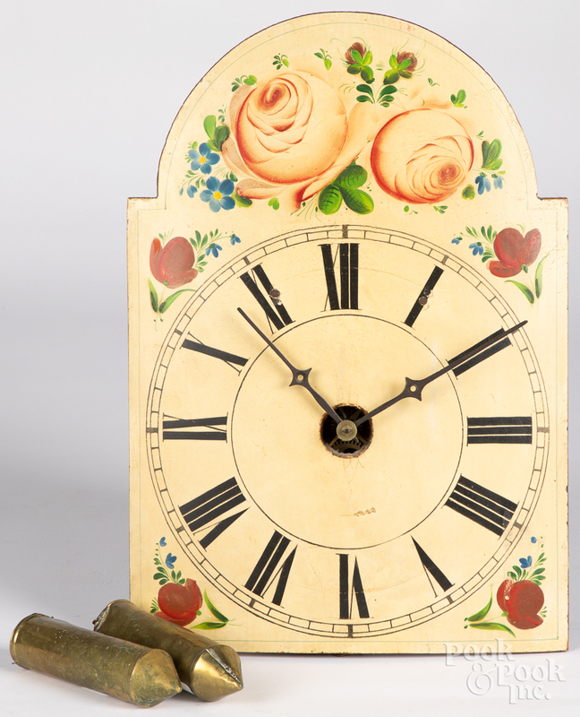 Painted wood wag on the wall clock