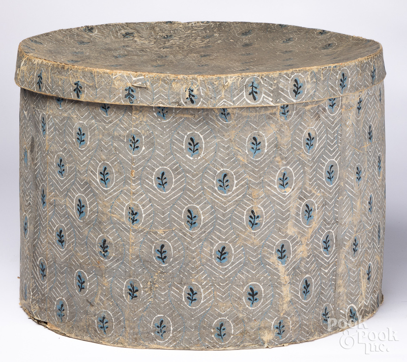 Large wallpaper hatbox