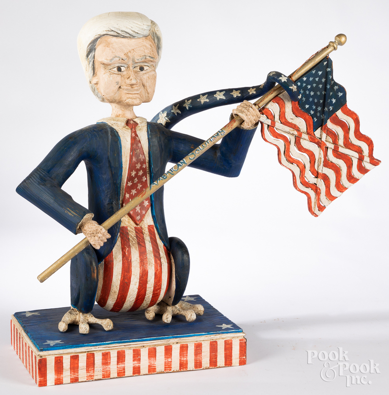 Carved and painted Newt Winning the Future