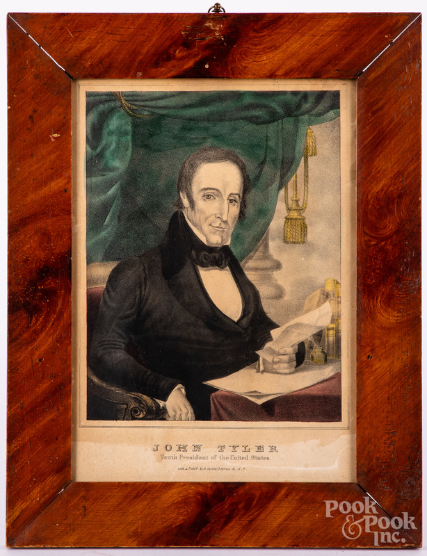 N. Currier color lithograph of John Tyler