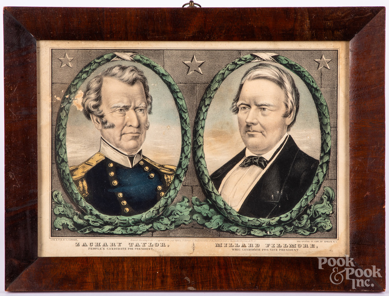 N. Currier presidential color lithograph