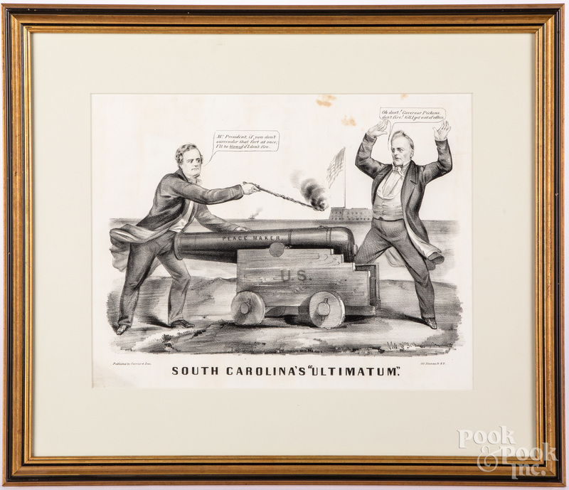 Currier & Ives South Carolina's Ultimatum lithograph