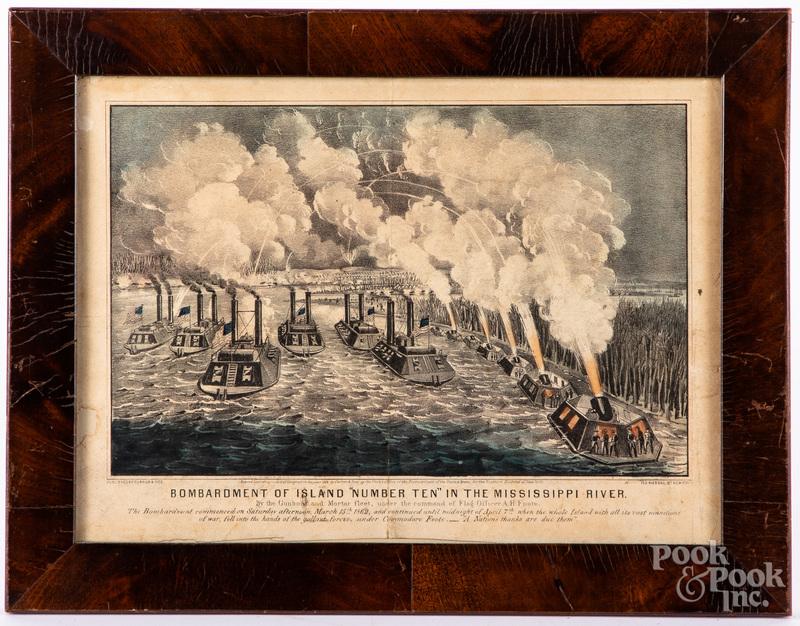 Two Currier & Ives Civil War color lithographs, etc.