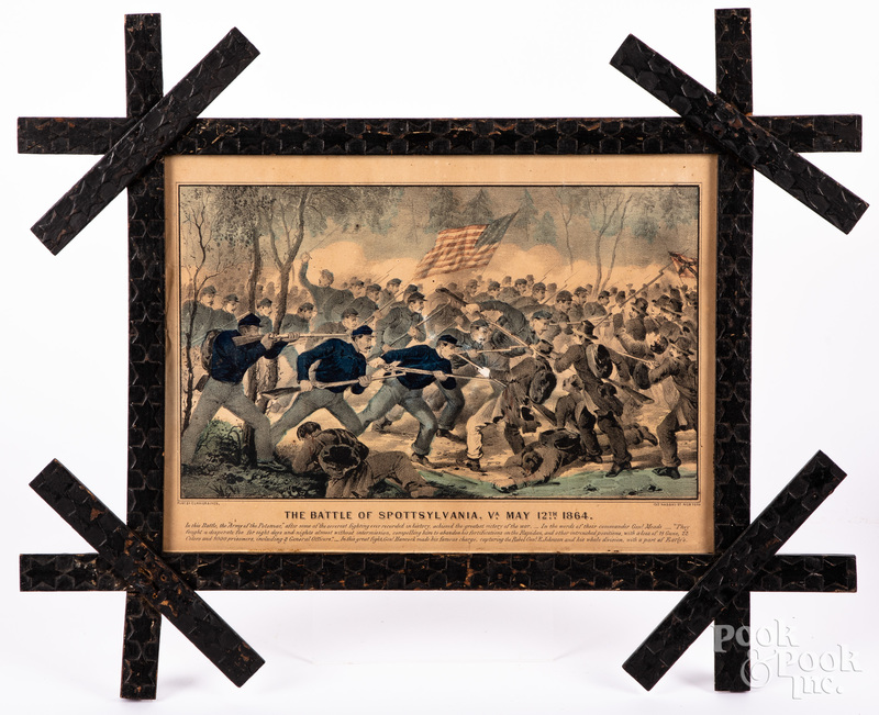 Two Currier & Ives Civil War color lithographs