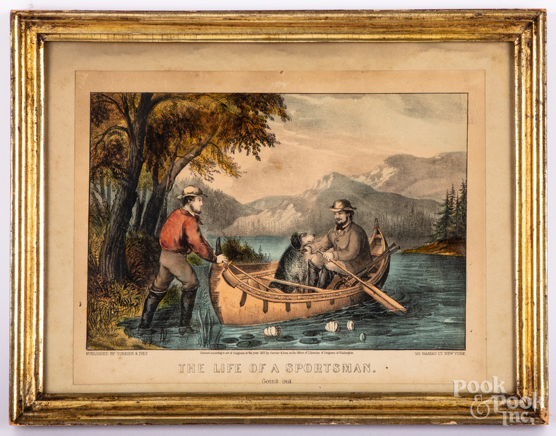 Currier & Ives The Life of a Sportsman lithograph