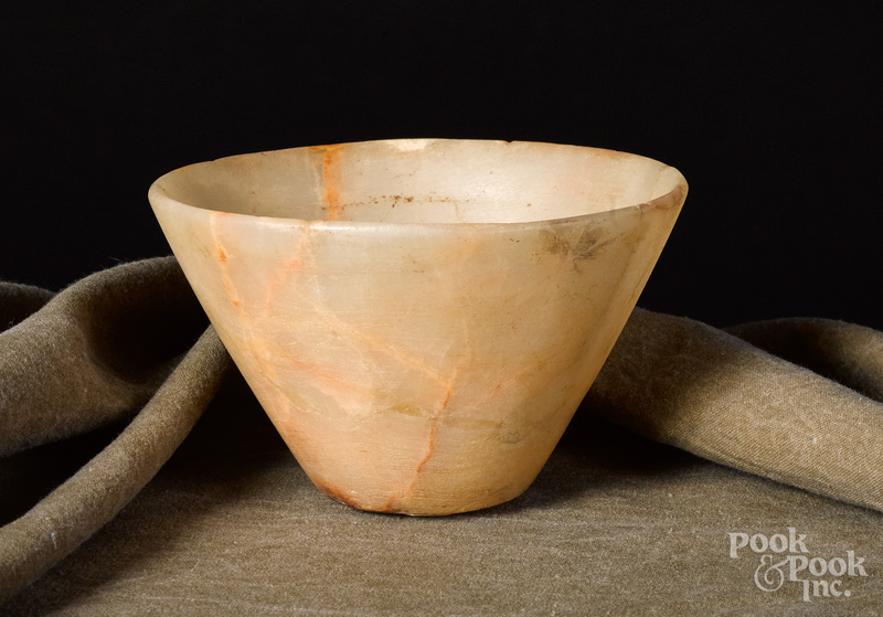 Egyptian pre-dynastic alabaster cup