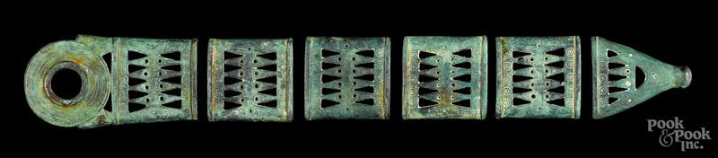 Bronze age European bronze scabbard