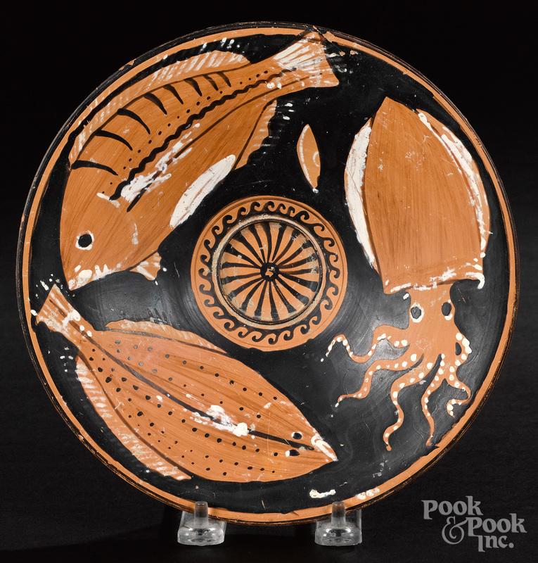 Apulian red figure fish plate