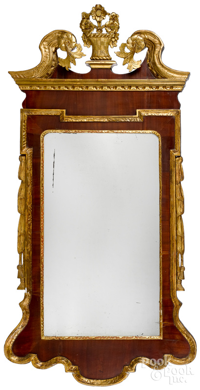 Federal mahogany and giltwood constitution mirror