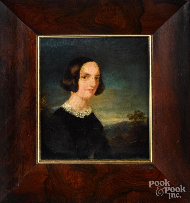 Pair of oil portraits