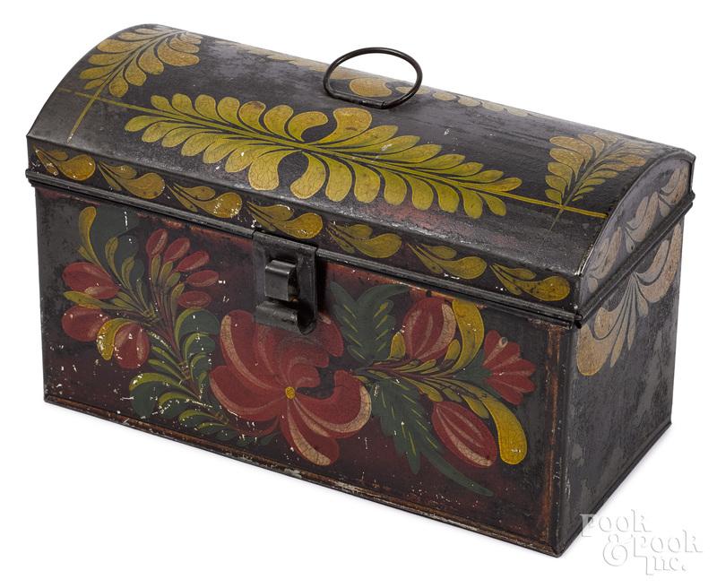 Pennsylvania toleware dome lid box