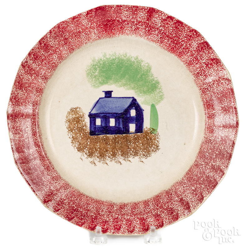 Red spatter plate