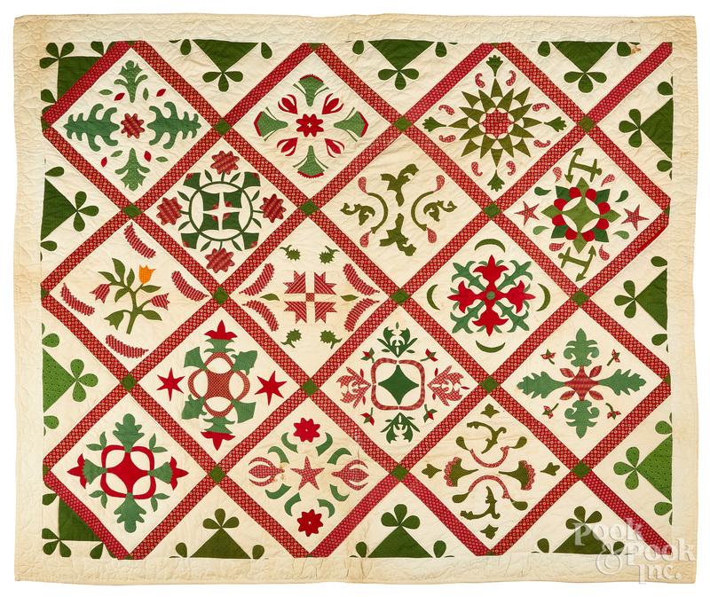Pennsylvania floral appliqué quilt