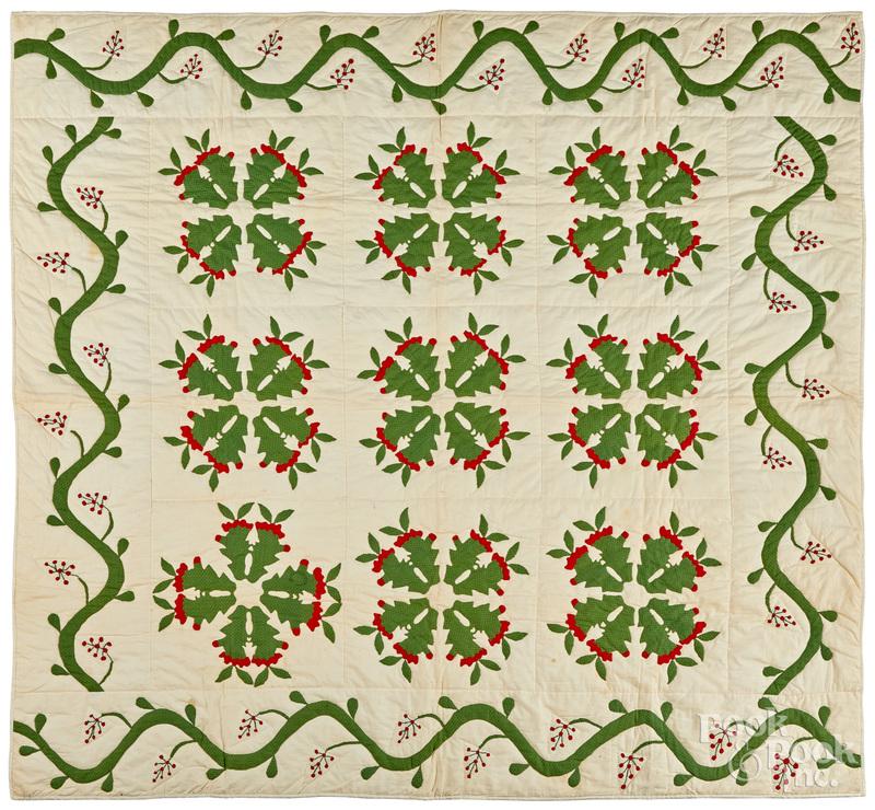 Cactus pattern quilt top