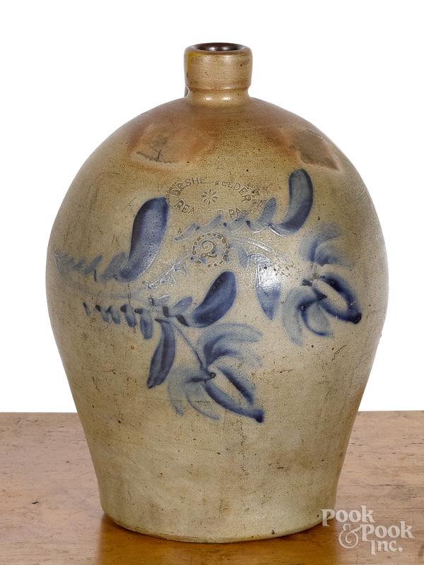 Pennsylvania two-gallon stoneware jug