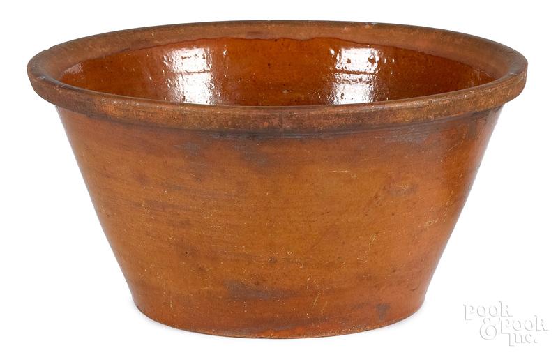 Massive redware bowl