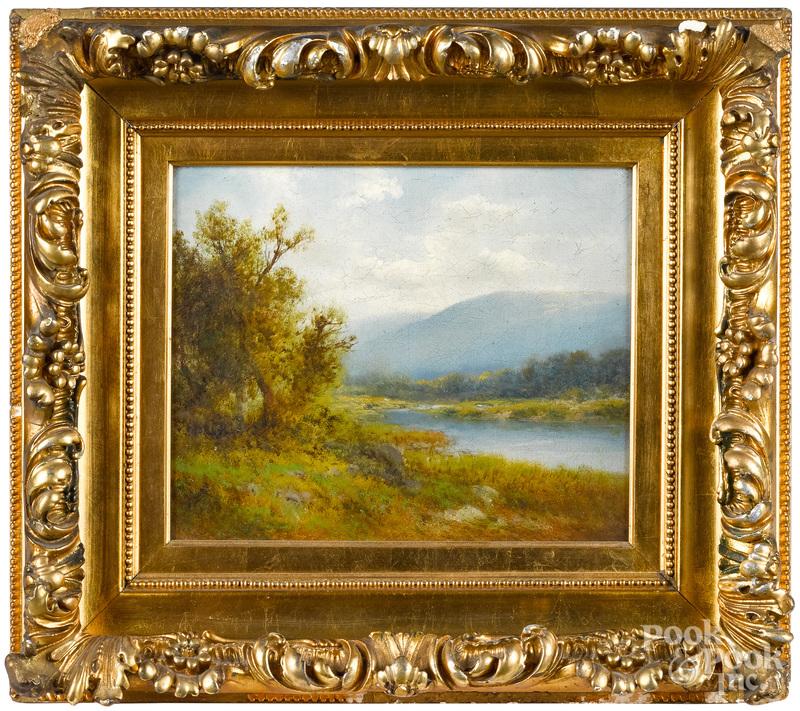 Attributed to Arthur Parton, oil landscape