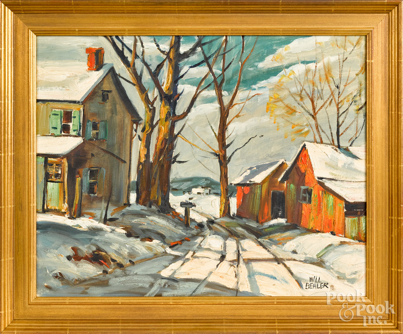 Wilmer Behler, winter landscape