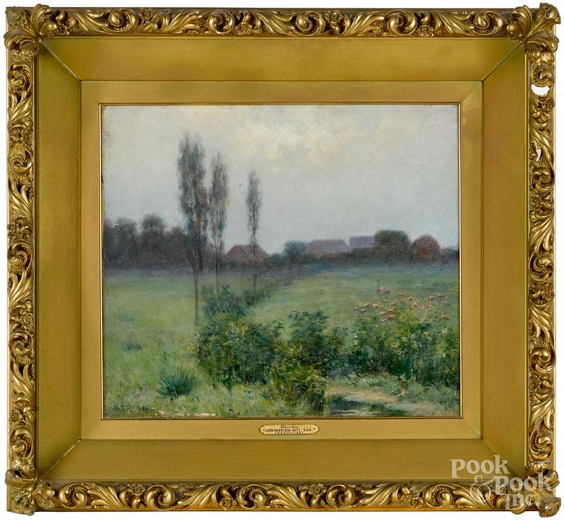 John Harrison Witt, oil on canvas landscape