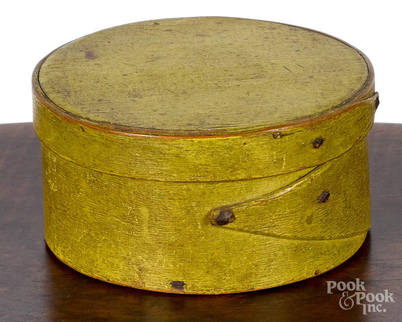 New England chrome yellow painted pantry box