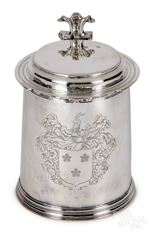 English silver tankard, 1693-1694