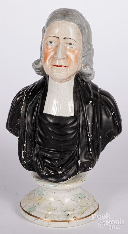 Staffordshire bust of John Wesley