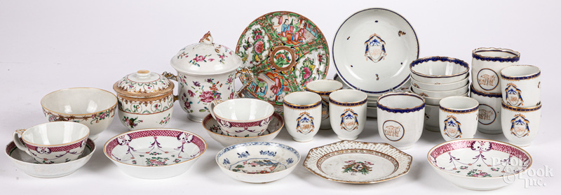 Group of Chinese export porcelain teawares