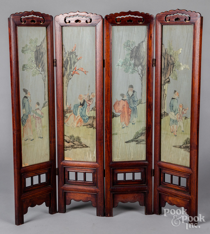 Chinese hardwood table screen