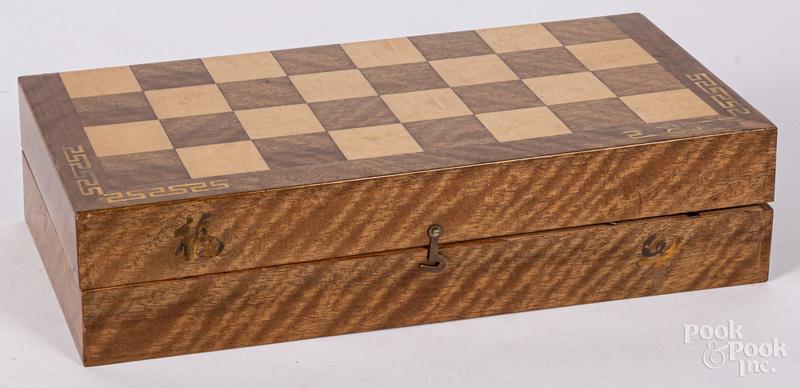 Korean carved stone chess set
