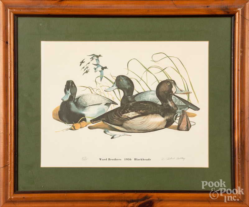 Three Ward Bros. duck decoy lithographs, etc.