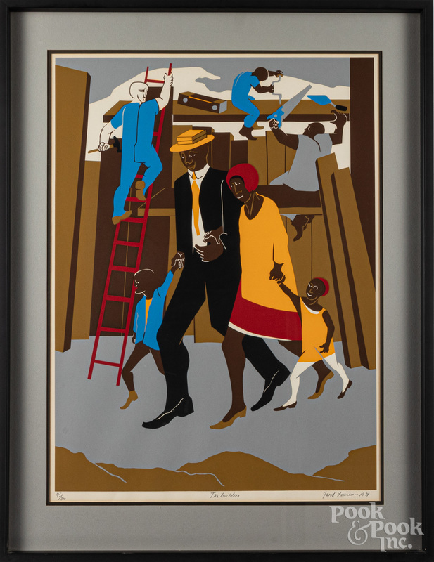 Jacob Lawrence signed silkscreen