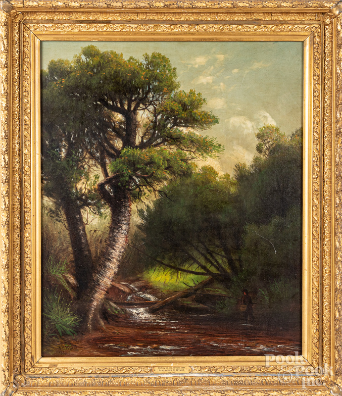 Oil on canvas landscape