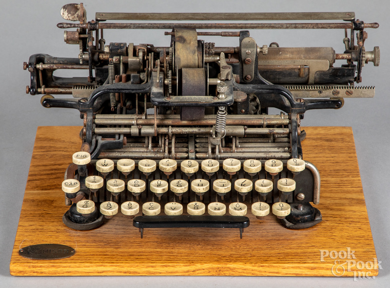 Munson 1 typewriter, copyright Sept. 17th, 1889,