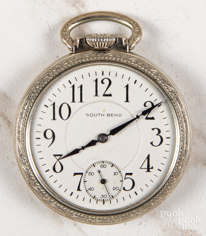 Rolled gold plate South Bend pocket watch