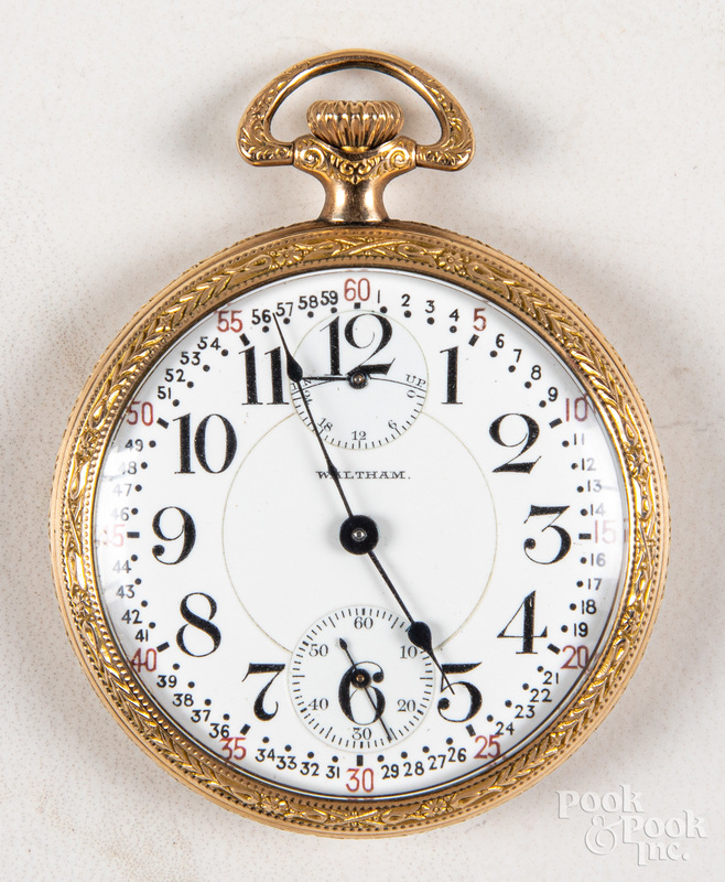 Gold filled Waltham open-face pocket watch
