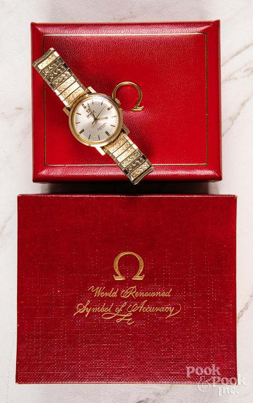 Omega Seamaster De Ville 14k gold men's watch