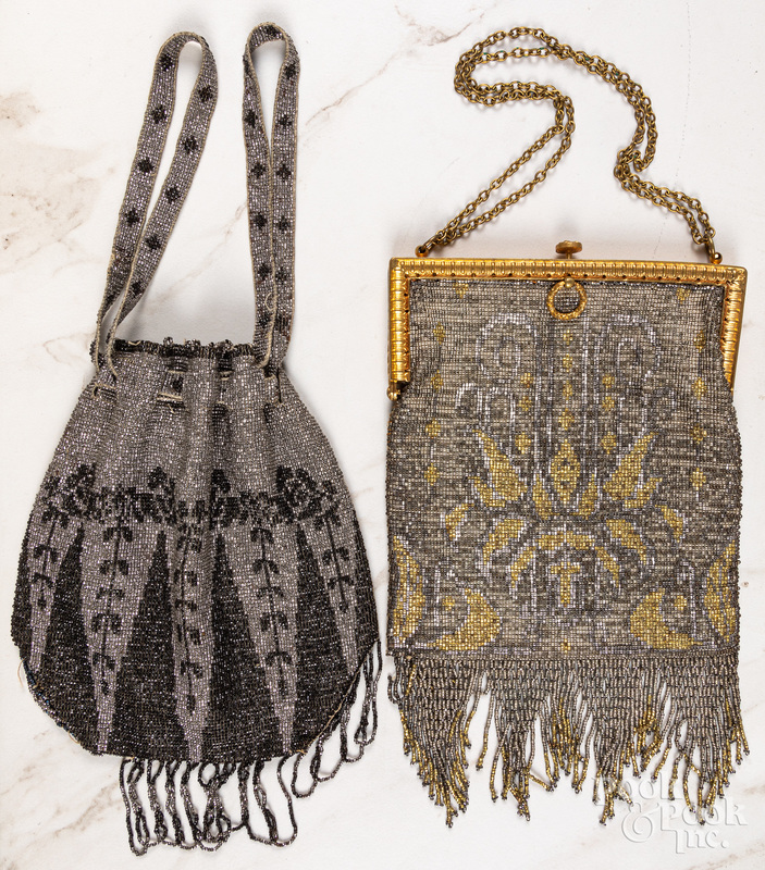 Two Art Deco beaded purses