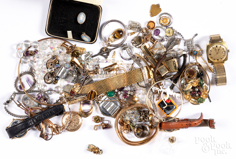 Costume jewelry, sterling, watches, etc.