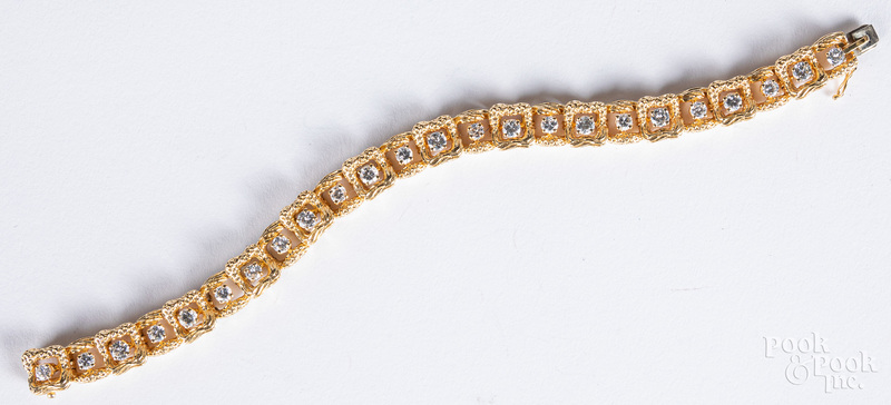 Tiffany & Co. 14K yellow gold and diamond bracele