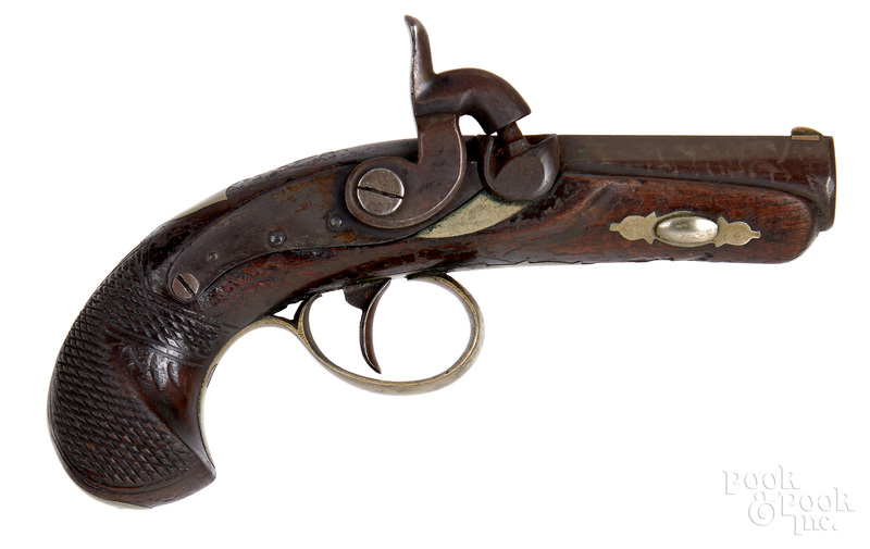 Unmarked Deringer style percussion pistol