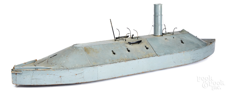 CSS Virginia Civil War wood ship model movie prop