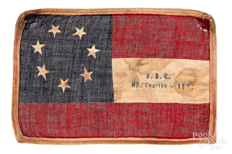 Scarce U.D.C. Civil War souvenir flag