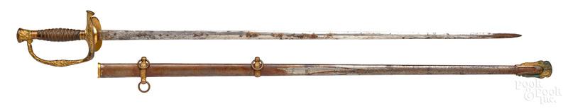 Civil War sword and scabbard